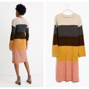Madewell Women's Colorblock Midi Sweater Dress